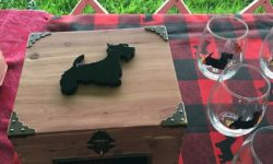 Keepsake trophy box for Scottish Terrier Club of Greater New York Specialty Show trophy by Donald Barcan