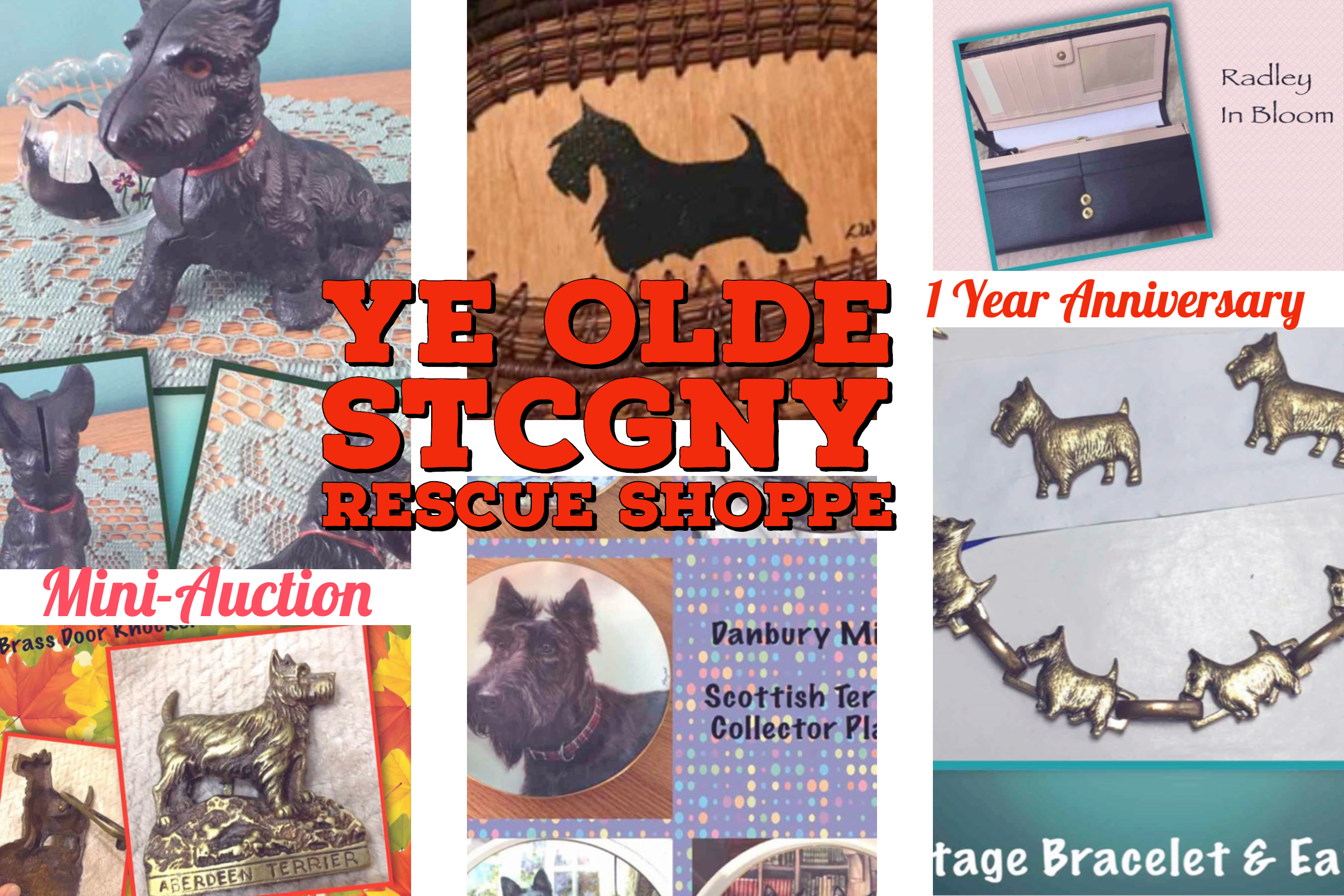 Scottish Terrier Club of Greater NY Rescue has successful fundraising mini auction art Facebook shop