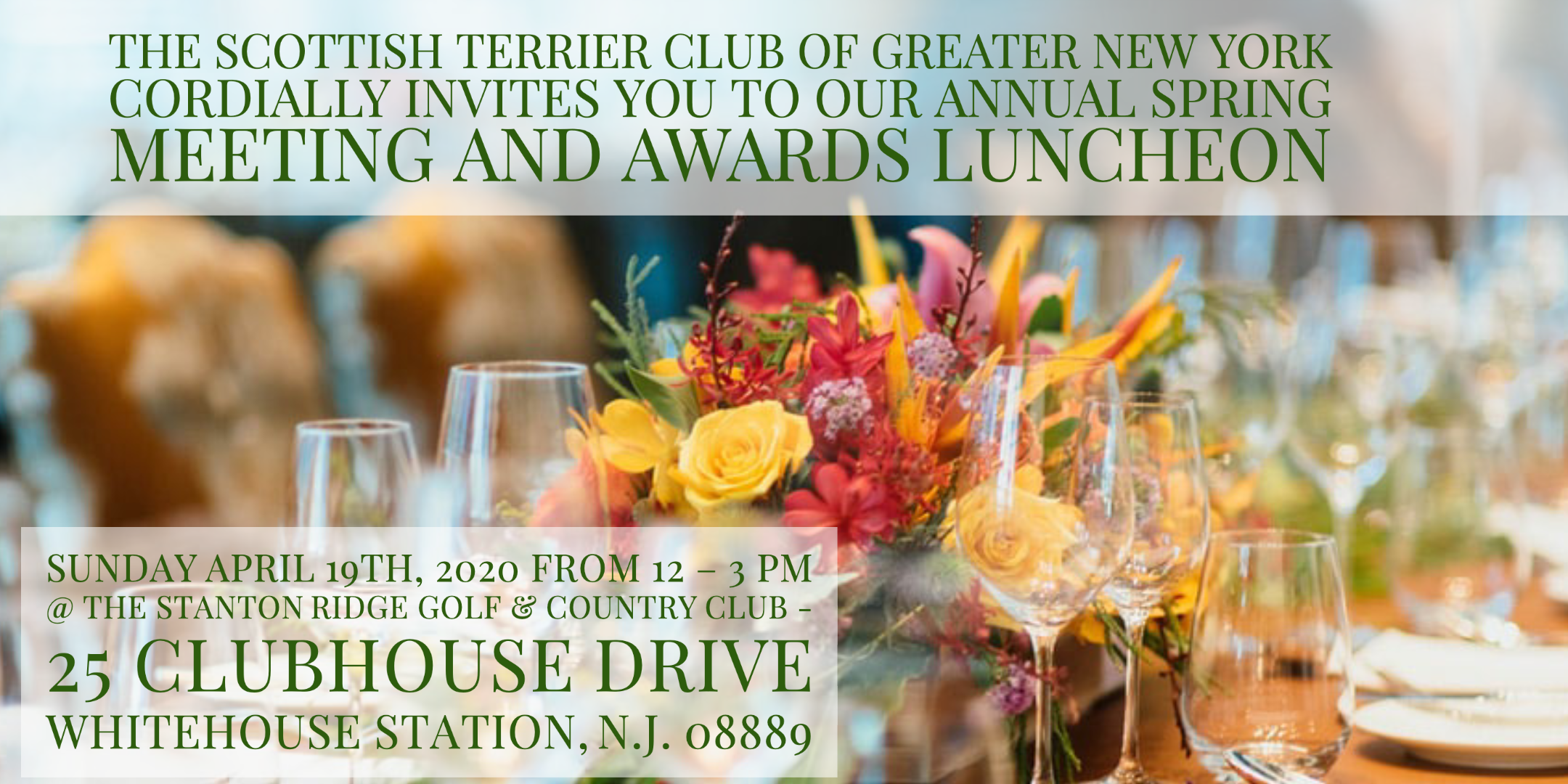 Scottish Terrier Club of Greater NY annual spring meeting awards luncheon